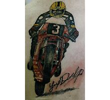 Joey Dunlop signed Tattoo Photographic Print