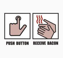 Push Button Receive Bacon One Piece - Short Sleeve
