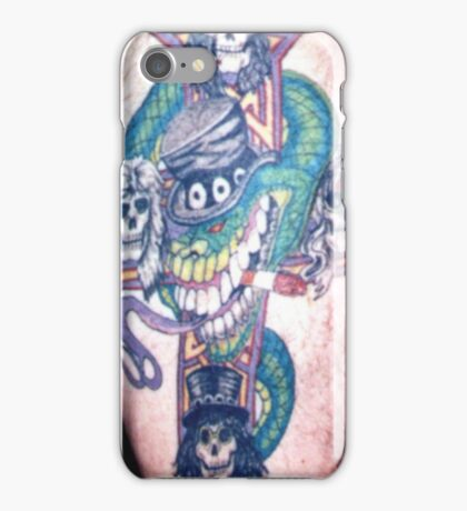 Guns n Roses cross with Slash snake custom tattoo. iPhone Case/Skin