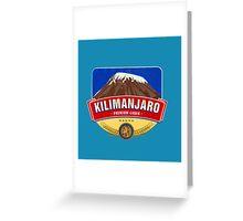 KILIMANJARO LAGER BEER TANZANIA Greeting Card