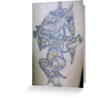 Ink wizard logo Tattoo Greeting Card