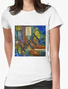 The HAPPY Artist Womens Fitted T-Shirt
