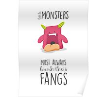 Bath time riles character monsters Poster