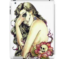 Woman rose skull iPad Case/Skin