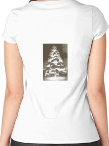 Glowing Tree Women's Fitted Scoop T-Shirt