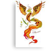 Phoenix vector illustartion in russian tradition style Canvas Print
