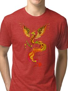 Phoenix vector illustartion in russian tradition style Tri-blend T-Shirt