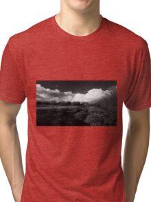 Black and white Welsh landscape Tri-blend T-Shirt