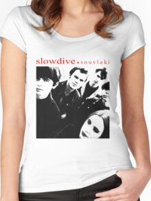 SLOWDIVE -SOUVLAKI- SHOEGAZER Women's Fitted Scoop T-Shirt