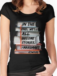Margaret Atwood and Books  Women's Fitted Scoop T-Shirt