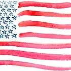 American Flag Watercolor by missgrumpypants