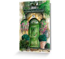 door collection: green door Greeting Card