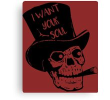 Skull - I want your soul Canvas Print