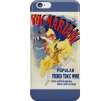 Vintage 1894 French tonic wine advert by Cheret iPhone Case/Skin