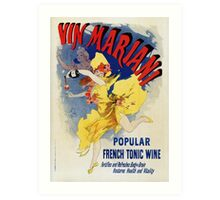 Vintage 1894 French tonic wine advert by Cheret Art Print