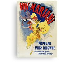Vintage 1894 French tonic wine advert by Cheret Canvas Print