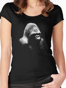 gorilla, monkey Women's Fitted Scoop T-Shirt