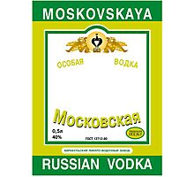 Russian Vodka Photographic Print