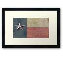 Texas Flag - paper works Framed Print