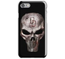 The Punisher with Daredevil inscription iPhone Case/Skin