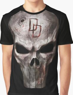 The Punisher with Daredevil inscription Graphic T-Shirt