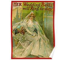 Wedding congratulations vintage Card  Poster
