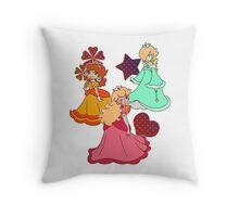 Three Princesses Throw Pillow