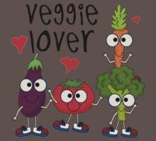 Vegetables Vegetarian Veggie Lover One Piece - Short Sleeve