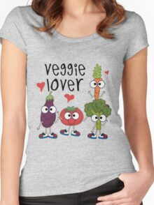 Vegetables Vegetarian Veggie Lover Women's Fitted Scoop T-Shirt