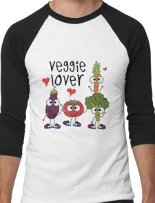 Vegetables Vegetarian Veggie Lover Men's Baseball ¾ T-Shirt