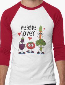 Vegetables Vegetarian Veggie Lover Men's Baseball ¾ T-Shirt