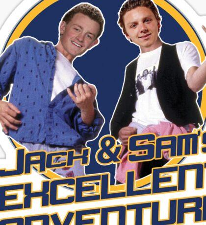 Jack and Sam's Excellent Adventure Sticker