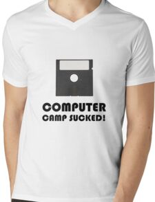 Computer Camp Sucked Mens V-Neck T-Shirt