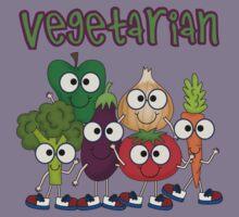 Silly Vegetables Veggies Vegetarian Kids Tee