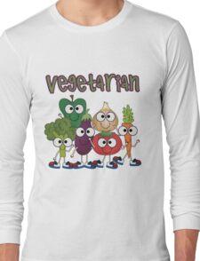 Silly Vegetables Veggies Vegetarian Long Sleeve T-Shirt