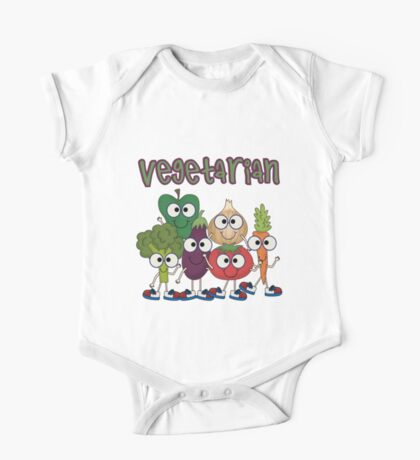 Silly Vegetables Veggies Vegetarian One Piece - Short Sleeve
