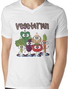 Silly Vegetables Veggies Vegetarian Mens V-Neck T-Shirt
