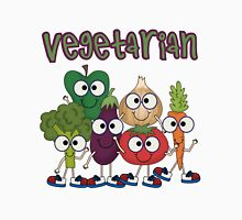 Silly Vegetables Veggies Vegetarian Womens Fitted T-Shirt