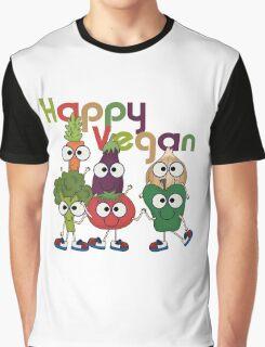 Veggies Vegetables Happy Vegan Graphic T-Shirt
