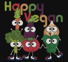 Veggies Vegetables Happy Vegan One Piece - Short Sleeve