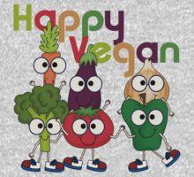 Veggies Vegetables Happy Vegan One Piece - Long Sleeve