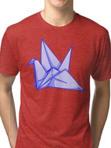 Blue Paper Crane Tri-blend T-Shirt