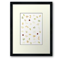 Nuts and grains Framed Print