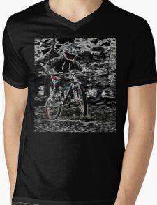 Mountain Bikes Mens V-Neck T-Shirt