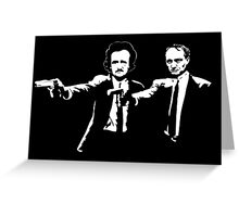 Literature Killers Pulp Fiction Poe Baudelaire Greeting Card