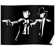 Lupin Jigen Pulp Fiction Lupin The Third Poster