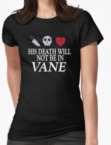 Vane (White Text) Womens Fitted T-Shirt