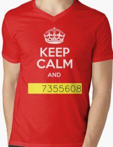 Keep Calm and 7355608 Mens V-Neck T-Shirt