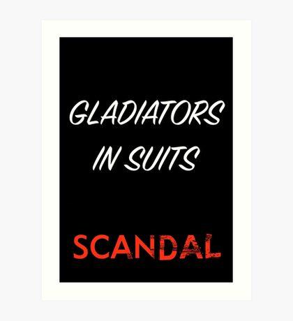 Gladiators in Suits Art Print