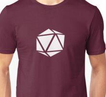 d20 (white) Unisex T-Shirt